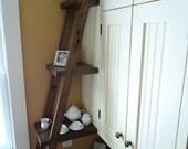 Kitchen Ladder Display Shelf - Reclaimed Barn Wood