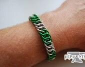 Harry Potter Hogwarts Bracelet - Slytherin (Stripe Style)