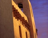 Santa Fe Art Museum at Sunset - New Mexico  9x12 Fine Art Giclee Print