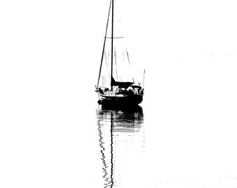Sailboat Harbor Springs Michigan - 8x10
