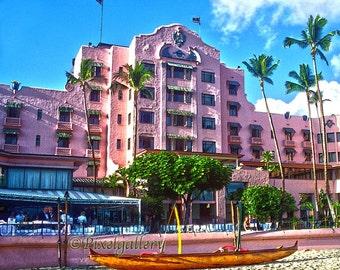 The Royal Hawaiian Pink Palace of the Pacific - Waikiki,  Hawaii 8x10 Giclee Print