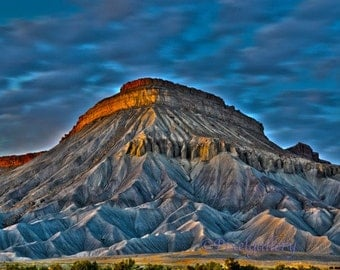 Mount Garfield - Grand Junction, Colorado  8x12 Giclee Print