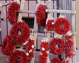 Chili Pepper Wreath 5x7 Fine Art Giclee Print