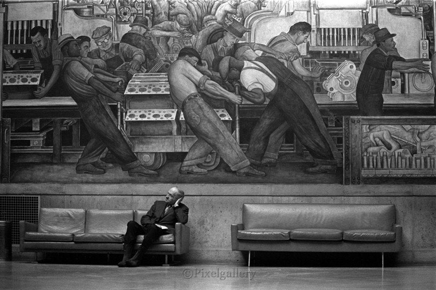 The old man in museum detroit institute of arts diego rivera for Diego rivera mural detroit institute of arts