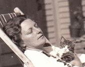 Cat Nap- Original Vintage Photo