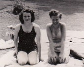 Hot Summer Day at the Park- 1950s Vintage Photograph