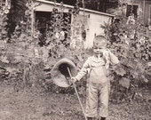 Little Gardener- 1920s Vintage Photograph