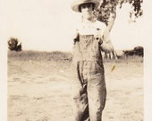 """Do You Know Who This """"Fella"""" Is- Woman in Overalls- 1920s Vinatge Photograph"""