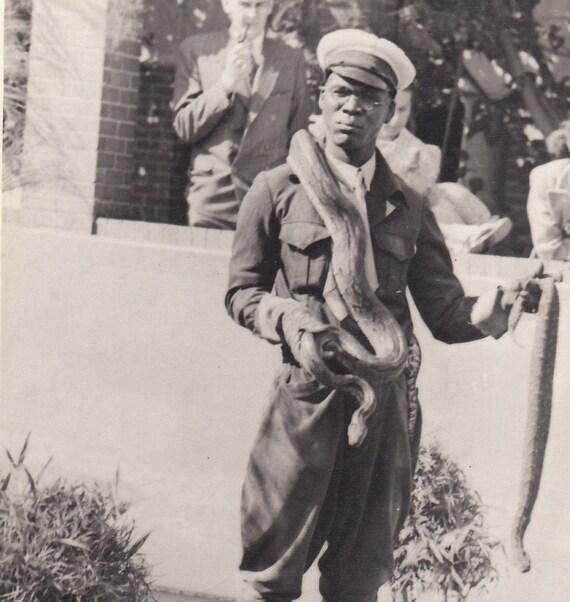 Snake Park- Port Elizabeth, South Africa- 1947 Photograph