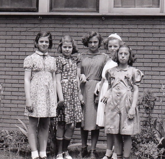 Friends Forever- Young Girls- 1960s Vintage Photograph