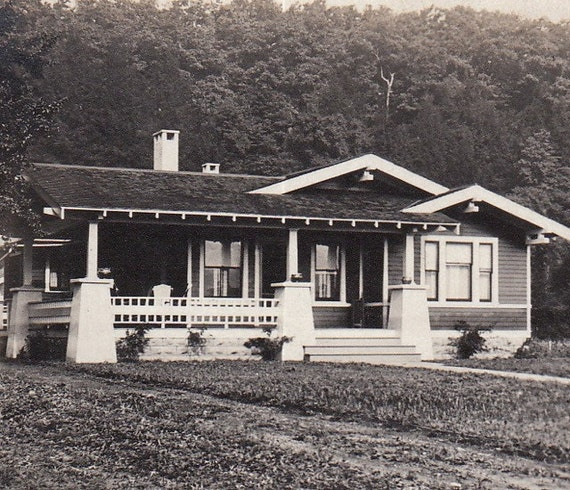 Our Home Sweet Home- 1910s Vintage Photograph