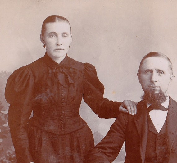 One Good Eye, One Bad- But a Husband She Had- 1800s Vintage Cabinet Photograph
