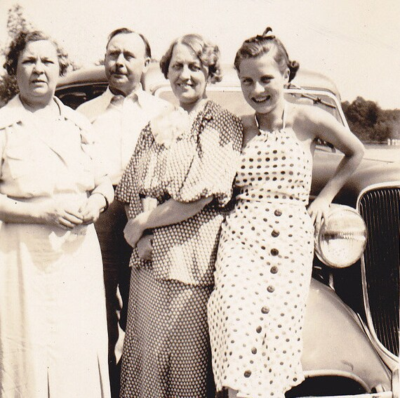 July- Summer Snapshot- 1936 Vintage Photograph