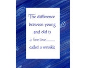 """Framable Birthday Greeting Card perfect for a 5"""" by 7"""" mat or frame"""