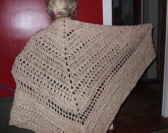 Hand-crocheted shawl