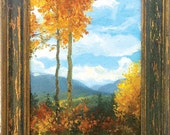 My Aspen Family - Oil Painting - 8x10 Custom Framed - Landscape