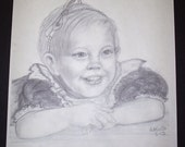 pencil Sketch, I will sketch your child