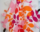 tangerine berry branches taggy blankie