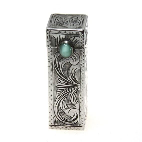 Lipstick Case Vintage 800 Silver