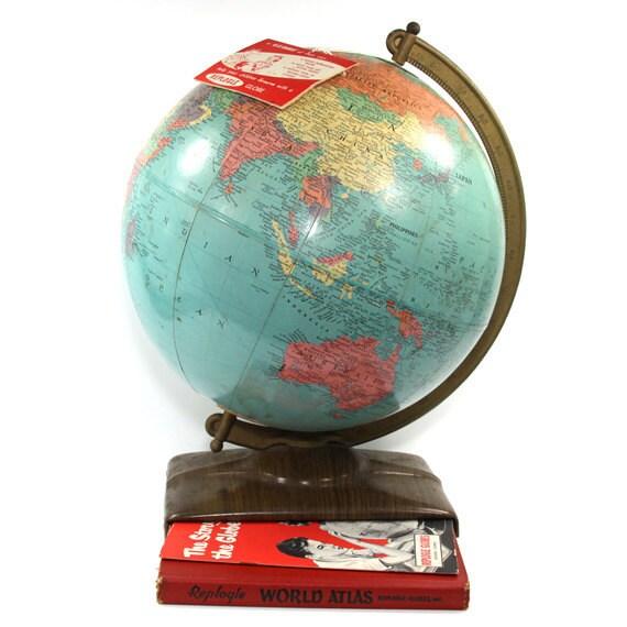 Vintage Globe Replogle  World Reference 1957