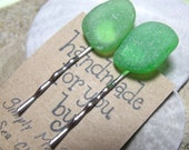 Sea Glass Hair Pins / Bobby Pins (Large) - Set of Two