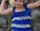 Lace  Posh Petti Rompers with Straps. SALE (  FREE 1st Class Shipping) Size 3-6yrs