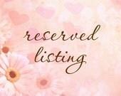 Reserved for Heather Dougherty Krietzman