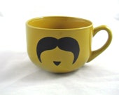 Mustard Giant cappuccino mug 2 sided
