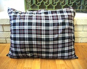 Plaid  Cat /Dog Pillow  in Red and Black Plaid  Made To Order Limited Edition