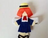 Madeline inspired hair clip ribbon sculpture