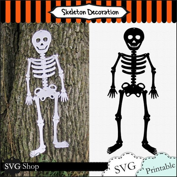 items similar to skeleton decoration svg files and