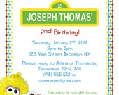 Personalizable Printable Birthday Invitation - Baby Sesame Street/Elmo (FREE THANK YOU)
