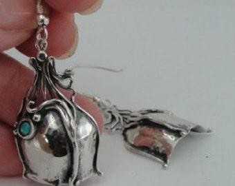 Hadar Jewelry Art Silver Opal Long Earrings (H 219)Y