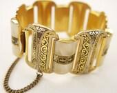 Vintage Damascene Style Bracelet 1960s