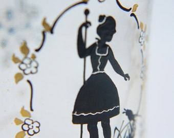 Vintage French Perfume Bottle Hand Painted