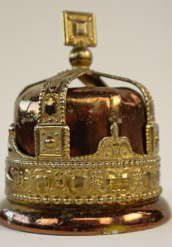 King George VI Coronation Crown Money Box 1937