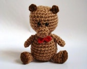 Crochet Amigurumi Brown Honey Bear