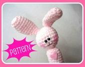 Crochet Patterns, Amigurumi Pattern, PDF Amigurumi Bunny Crochet Finger Puppet Pattern, Crochet Tutorial