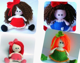 Pattern, Amigurumi Doll Pattern, Amigurumi Girl Pattern, Crochet doll pattern - Tutorial