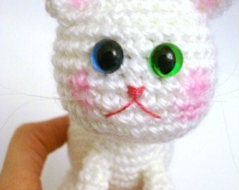 Pattern, Amigurumi Pattern, Amigurumi Cat Pattern, Crochet Kitten, Amigurumi Crochet Kitty Pattern, Tutorial