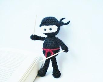 Pattern, Tutorial, Amigurumi Crochet Black Ninja Pattern, Crochet Pattern, Instant download