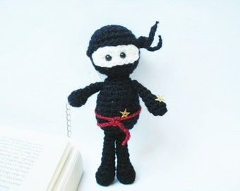 Tutorial, Amigurumi Crochet Black Ninja Pattern, Crochet Pattern, Instant download