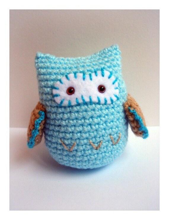 What a hoot... Blue Crochet Amigurumi Owl