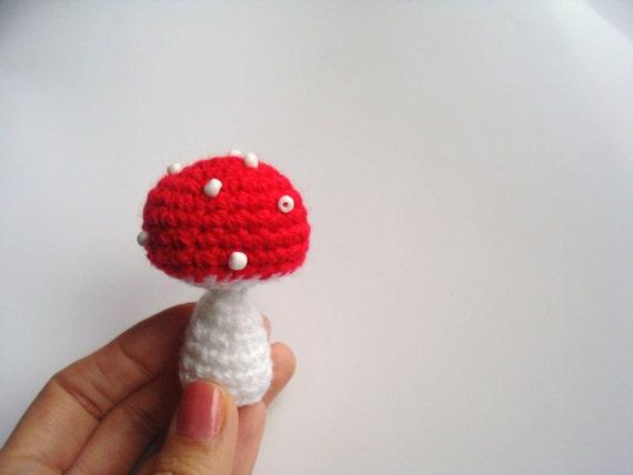 Amigurumi Crochet Mushroom : Items similar to Crocheted Amigurumi Mushroom on Etsy