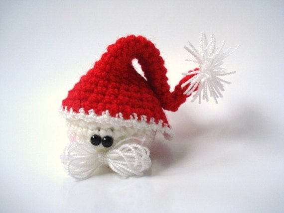 Crochet Amigurumi Santa Claus, Christmas Gift, Miniature Christmas Toy - Plush - Decor - Childrens Gift - Holiday Doll