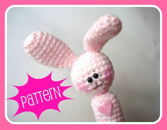 Crochet Patterns, Amigurumi Pattern, PDF Amigurumi Bunny Crochet Finger Puppet Pattern, Crochet Tutorial