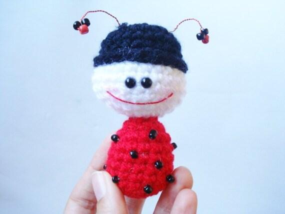 Crochet toy PATTERN - Amigurumi tutorial, Crocheted Ladybug, ladybird, Amigurumi, Crochet Pattern, Amigurumi Ladybug Pattern, Miniature