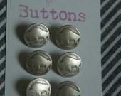 Buffalo nickel replica buttons
