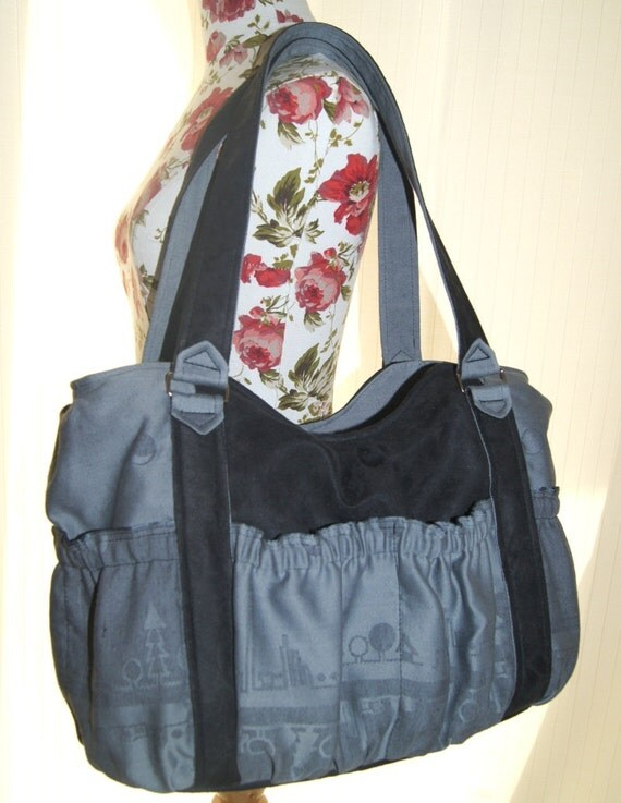 Big Diaper Bag - Momma's Bag  with Natibaby  Sweet Place wrap