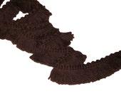 Chocolate Fabric Trim 4 yards - Retro 70's Sewing Brush Fringe Fabric Trim